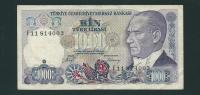 Banconota  Da 1.000  TURK  LIRASI  -  TURCHIA  - Anno  1970. - Turchia
