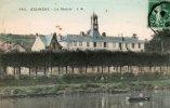 - Cpa - 78 - ANDRESY - La Mairie - 03/11/1909 - Belle Carte Animée, Barques De Pêche - - Andresy