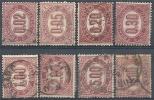 1875 REGNO USATO SERVIZIO DI STATO 8 VALORI - RR9832 - 1861-78 Vittorio Emanuele II