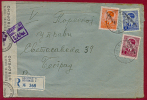 WW II SERBIA/SERBIEN-GERMANY, PETAR 0.50+2+4 Dinar On CENSORED LETTER LOCO BELGRADE 1942 RARE!!!!!!! - Serbia
