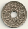 France 25 Centimes 1926 KM#867a - Francia
