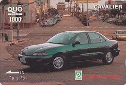 Carte Prépayée Japon Voiture - TOYOTA CAVALIER - Car Japan Quo Card - Auto Prepaid Karte - 551