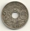 France 25 Centimes 1933 KM#867a - Francia