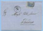 VENETO 1871 EFFIGIE C. 20 COPERTA 13.1.71 LEGNAGO  A PADOVA BEL CHIUDILETTERA INTEGRO LUIGI SAGGIORI  (DCL3539) - 1861-78 Vittorio Emanuele II