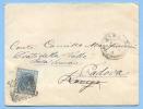 1876 EFIGIE C. 20 BUSTA  STEMMA MINISTERO FINANZE DA ROMA SUCCURSALE  21.2.76 A ROVIGO  RISPEDITO A  PADOVA  (3542) - Storia Postale