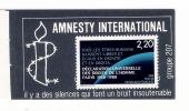 Y. & T.  N° 2559  /  Timbre Déclaration Des Droits De L'Homme, Collé Sur Autocollant AMNESTY INTERNATIONAL , GROUPE 207 - Autocollants