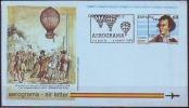 SPAIN -ESPAÑA  -   BALLOON VICENTE LUNARDI - AEROGRAM  - 1992 - Airplanes