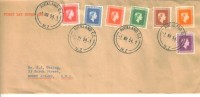 1954 FDC  New Zealand Official  Issue Short  Set Of 7 To 1 Shilling 1st March1954  FDC - New Zealand