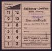 Brennstoffkarte, Schleswig-Holstein, Kwa. Steinberg, Gültig 1.4.1949-31.3.1950 ! - Dokumente