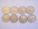 Lot De Huit Piéces De 5 Francs Argent (2  De 1960 .2 De 1961.2 De 1962 Et 2 De 1965) - France