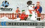 UK.. MERCURYCARD . Christmas  . - [ 4] Mercury Communications & Paytelco