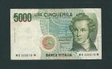 5.000  LIRE - VINCENZO  BELLINI  - Anno 1996  -  D.M. 3  Genn.1985 - Firme: FAZIO / AMICI. - [ 2] 1946-… : Repubblica
