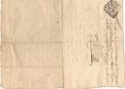 Cachet Généralité Fleur De Lys LIMOGES 1 Sol 3 Deniers - 10 Juillet 1772 - Pierre Buffiére  Naboulieras - Cachets Généralité