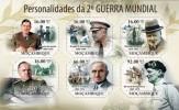 MOZAMBIQUE 2011 - Sir W. Churchill, Personalities Of World War II - YT 3920-5, Mi 4728-33, Sc 2318 - Sir Winston Churchill