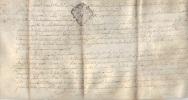 Parchemin Cachet Généralité Fleur De Lys LIMOGES 12 Sols - 14 Juin  1772 - Pierre Buffière Naboulieras - Manuscrits