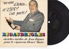 Verre D'arbois - Vigne Vin - Disque Souple  Rigaudrioles - Sketches Inedits Jean Rigaux, Vigneron Henri Maire -