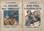 """2 COLLECTION """"""""  PIERROT"""" LE DRAME DES MIMOSAS ET J.PAUL JOURNALISTE - Aventure"""