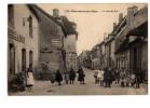 CPA CHARANTON-SUR-CHER LA GRANDE RUE ANIMÉE PUBLICITÉ CHOCOLAT MENIER - Autres Communes