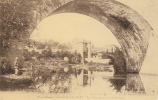Dép. 79 - PARTHENAY. - Le Thouet Sous Le Pont-Neuf. Animée. E. Cordier. N°50 - Parthenay