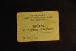 Rationnement - Bon De St Vincent De Paul Vernon - Bonds & Basic Needs