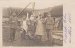 RUSSICH POLEN-SOLDATS ALLEMANDS-BOUCHERS AU TRAVAIL-CARTE PHOTO - War 1914-18
