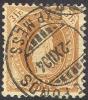 # Switzerland  ZUMSTEIN   72F,  Used, Perf 11 3/4,  Braun, KZ II ,  Michel 64YA, (szz072f-12,  10-  Est. Gyyy - 1882-1906 Coat Of Arms, Standing Helvetia & UPU