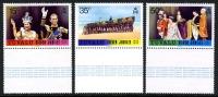 Tuvalu #43-45 Mint Hinged QEII Silver Jubilee Set Set From 1977 - Tuvalu