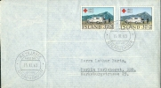 LETTRE 1ER JOUR ISLANDE 1963 - SERIE COMPLETE - CROIX ROUGE INTERNATIONALE - - Croix-Rouge