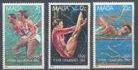 MALTA   710/12   XX  MNH  POSTGAAF  NEUF  S.C. OLYMPICS - Summer 1984: Los Angeles