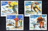 New Zealand 1984 Skiing Set Of 4 Used - New Zealand