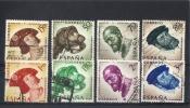 España  -  1958  -  Edifil - 1224 / 31  ( Usado ) - 1951-60 Oblitérés