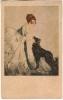 Femme Avec Le Chien  -  Paris  Galerie Lutetia - Illustrateurs & Photographes