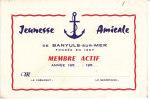 Carte De La Jeunesse Amicale  De Banyuls Membre Actif - Vieux Papiers