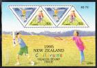 New Zealand Scott #B150a MNH Souvenir Sheet Of 4 Health Stamps - Boy Skateboarding, Girl Cycling - Skateboard