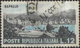 ITALY 1953 Tourist Series - 12l Rapallo FU - 1946-60: Gebraucht