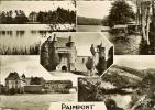 """CP De PAIMPONT"""" Château , étang , Abbaye , Le Val Sans Retour """" . - Paimpont"""