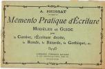 MEMENTO PRATIQUE D'ECRITURE 20 Pages 1932 - 6-12 Jahre