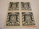 GERMANY,SAAR, MICHEL# 226Z(II)BLK OF 4, #272 PAIR,& DIENSTMARKEN, #34 BLOCK OF 4,ALL MINT OG - Zone Belge
