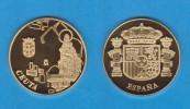 ESPAÑA / SPAIN   MEDALLA  ORO / GOLD    SC/UNC  PROOF  CEUTA      DL-7143 - Spain