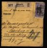 A1171) Oberschlesien Paketkarte Von Kattowitz 3.3.1922 Nach Hamburg Mit MeF Mi.28 - Coordination Sectors