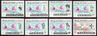 MALAYSIA 1965 Orchids X8  MH [S1430] - Orchidées