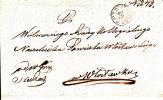 Poland Prephilatelic Cover OSIECINY In Black To WLOCLAWEK 1866 - Poland