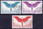 Suisse - PA 1924 Michel 189-91z, Obliteré - Poste Aérienne