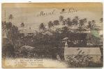 Tuamotou French Polynesia 67 Village De Moumu Makatea Cliché Gautier Timbre Decollé Taches - French Polynesia