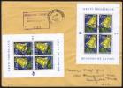 1963  Lettre Grand Format Pour Les USA  2 Blocs «Bourdon De La Paix» BL 34 - Belgium