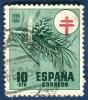 1950 - Europe - Espagne - Emis Au Profit Des Oeuvres Antituberculeuses - 10 Cts Vert Et Rouge - - Malattie