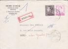 848A+1067 Op Aangetekende Brief Met Cirkelstempel GOSSELIES - 1953-1972 Glasses