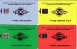 GHANA TELECOM 4 CARTES PUCE CHIP CARDS MORENO 1995  POSTS TELECOMMUNICATIONS CORPORATION TELECOM - Ghana