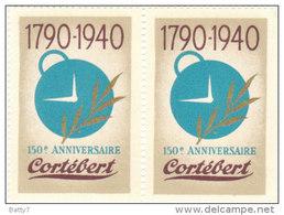 ERINNOFILO QUARTINA 1940 - 150° ANNIVERSAIRE CORTEBERT - Cinderellas