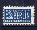 Alliierte Besetzung  Bizone    Notopfer Berlin    Mi.   2  O/used   Gezähnt   Siehe Bild - Bizone
